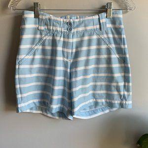 Nike Golf Powder Blue Striped Dri-Fit Shorts Sz 2